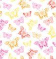 seamless pattern with butterflies on splashes vector image