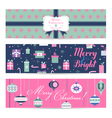 Vintage Christmas Banners Labels Tags vector image