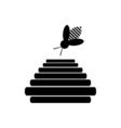 Bee honey icon vector image