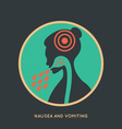 Nausea and Womiting Poster vector image