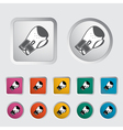 Icon boxing gloves vector image