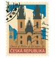 stamp with the image Prague vector image vector image