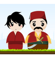 traditional couple vector image vector image