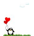 Panguin and balloon vector image