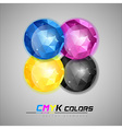 triangles ball cmyk vector image vector image