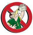 No drink vector image
