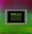 green abstract banner halftone square vector image