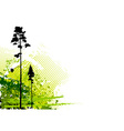 nature grunge corner vector image