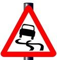 Danger SkiddingTraffic Sign vector image