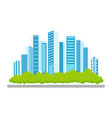 flat modern city icon concept vector image