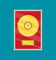 flat vinyl disk icon vector image