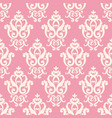 seamless damask pattern pink texture in vintage vector image