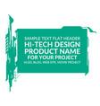 Hi-tech elements rectangle vector image