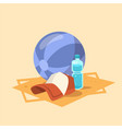 ball cap icon summer sea vacation concept vector image