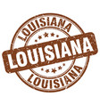 louisiana brown grunge round vintage rubber stamp vector image
