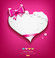 Happy Valentines Day pink ribbon snow in winter vector image vector image