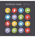 Flat icons for interface vector image