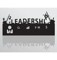 Construction site crane building leadership text vector image vector image