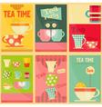 tea set posters vector image vector image