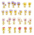 pastel pansy vector image vector image