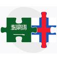 Saudi Arabia and Faroe Islands vector image