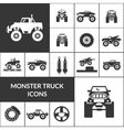 Monster Truck Icons Set vector image
