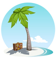 Palm and suitcase vector image vector image