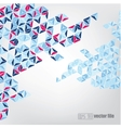 Abstract geometric mosaic background vector image