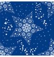 christmas seamless star vector image