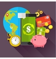 Concept for mobile banking vector image