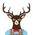 deer hipster dressed glasses vector image