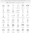 Garden ultra modern outline line icons for vector image