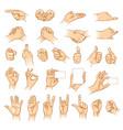 hands in different interpretations vector image