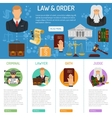 Law and Order infographics vector image
