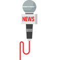Microphone news isolated on vector image