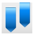Set of Popular blue ribbons sticker on top vector image