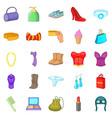 underwear icons set cartoon style vector image