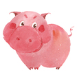 watercolor pig vector image