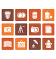 Flat Photography equipment icons vector image