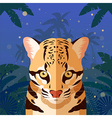 Ocelot on the Jungle Background vector image vector image