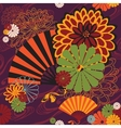 bright seamless Japanese subjects vector image