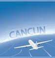 cancun skyline flight destination vector image