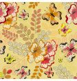 yellow seamless floral pattern vector image