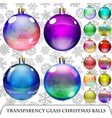 Set of transparent Christmas balls vector image vector image