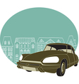 Old classic car vector image