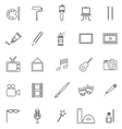 Art line icons on white background vector image vector image