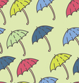 Summer Rain Umbrella Pattern vector image