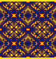 blue yellow seamless pattern vector image