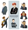 businessmen in diferent pose vector image