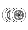 car tires isolated icon vector image